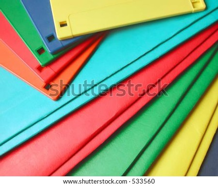 Colorful Floppy Disks Note Folders Stock Photo Edit Now