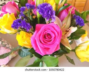 A colorful floral arrangement bouquet.