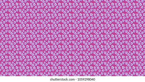 Colorful floral , medium violet red and light steel blue decorative ornament pattern with flowers and leaves. Bright spring nature background.