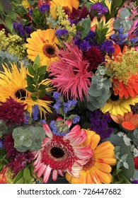 Colorful flower. Beautiful blooming from farmer market.