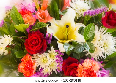 colorful flower bouquets background