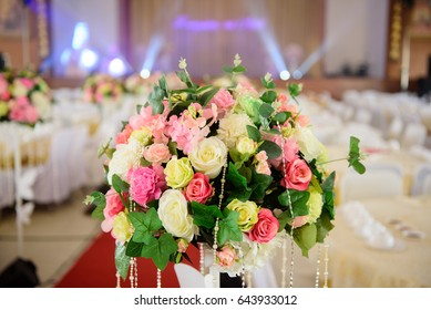 The colorful flower for decorate wedding party
