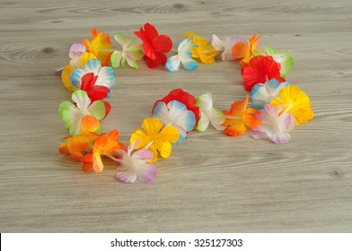 A colorful flower necklace