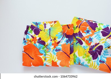 Colorful flower shirts for summer and favorite thai traditional songkran water festival or the Thai new year's festival.