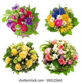 colorful flowers bouquet. roses, tulips, ranunculus, hyacinth, daisy, anemone. birthday, easter, mothers day, valentines day, greetings, congratulations.