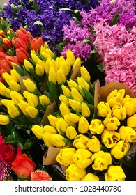 Colorful flowers at the market