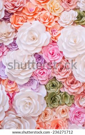 Colorful flowers paper background pattern stock photo edit now colorful flowers paper background pattern mightylinksfo