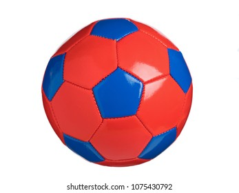 Colorful football ball shot with white back