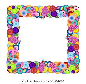 A colorful frame isolated on a white abckground