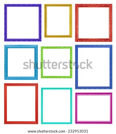 cb4d6e1c1973 Colorful Frames On White Background Stock Photo (Edit Now) 232953031 ...