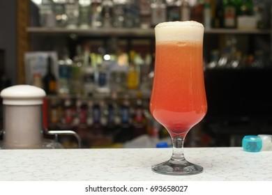 Colorful fresh juice coktail