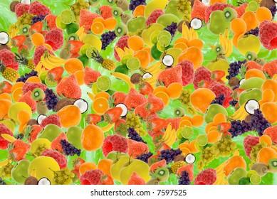 colorful fresh summer fruit background
