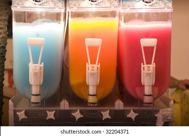 Colorful Frozen Smoothie in a Carnival Machine