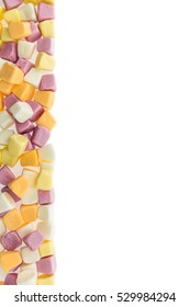 colorful fruit gummy confectionery