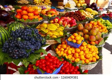 Colorful fruit at the market in Dali, Yunnan, China
