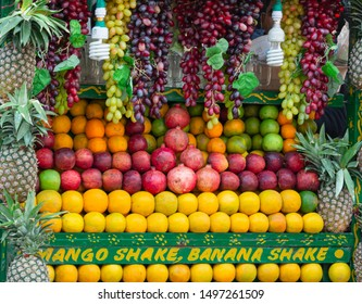 colorful fruits in the shop