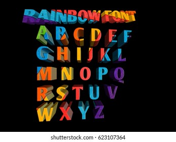 Colorful Funny 3d Font for Cartoon project, Child event poster, Parties invitations, small event or advertising posters.