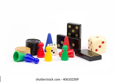 colorful gaming pieces