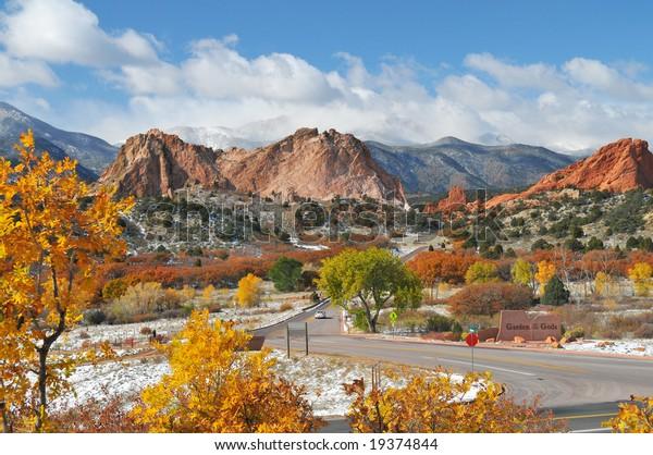 Colorful Garden Gods Park Near Colorado Stock Photo Edit