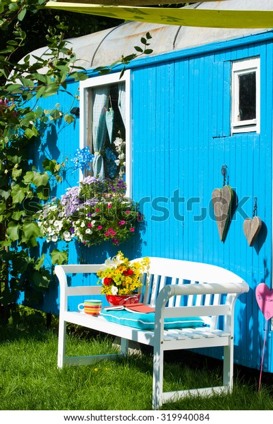 Colorful garden idyll