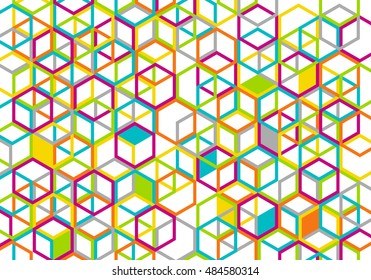 Colorful geometric backdrop