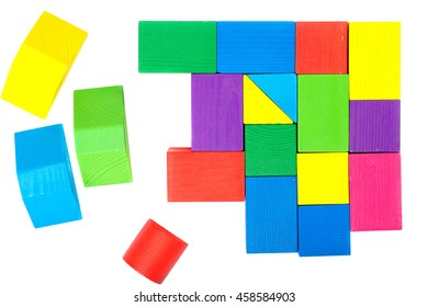 Colorful geometric figures for children.Background