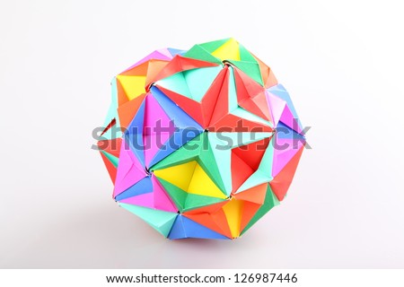 Colorful Geometric Origami Ball Stock Photo Edit Now 126987446