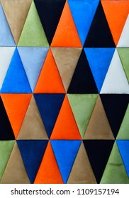 Colorful geometric triangles background