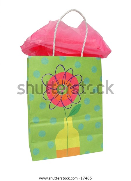 Colorful Gift Bag w/ Tissue Paper