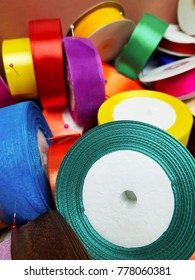 colorful gift wrapping strips