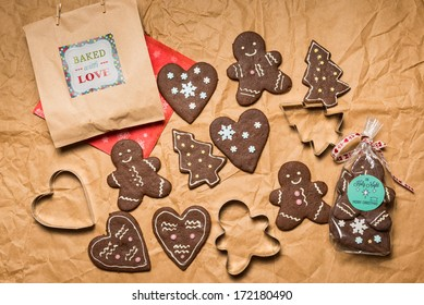 Colorful Gingerbread Cookies
