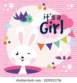 Colorful its a girl background
