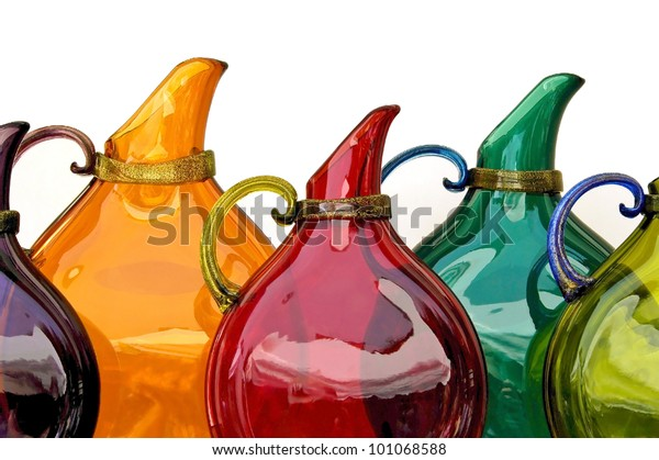 Colorful Glass Pitchers