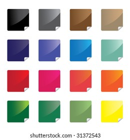 Colorful glossy stickers