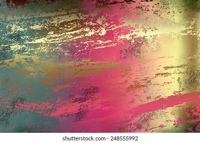 Colorful golden , abstract   background , with   painted  grunge background texture for  design .