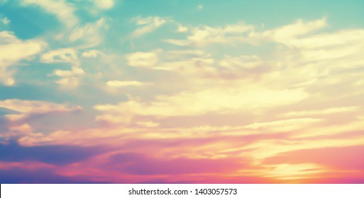colorful  golden sunset sky background