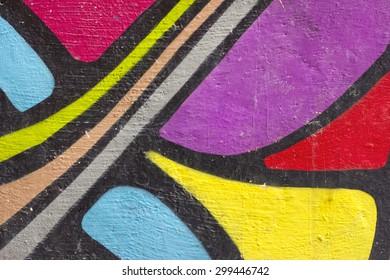 Colorful graffiti on a wall