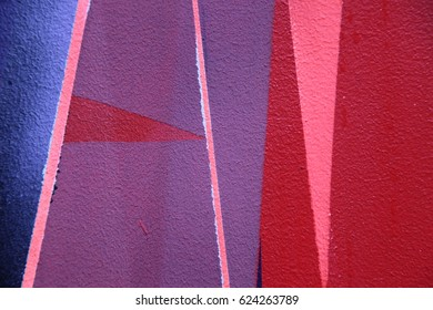 Colorful graffiti on the wall. Fragment for background. Street art