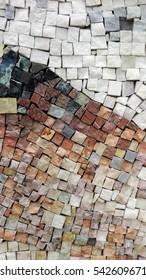 Colorful granite tiles texture. Abstract Granite tiles background. Granite mosaic.
