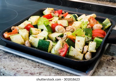 colorful grilled vegetables on the