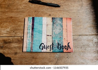 A colorful guestbook at an event.