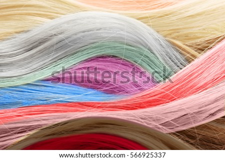 Colorful Hair Background Hairstyles Care Concept Stock Photo (Edit ...