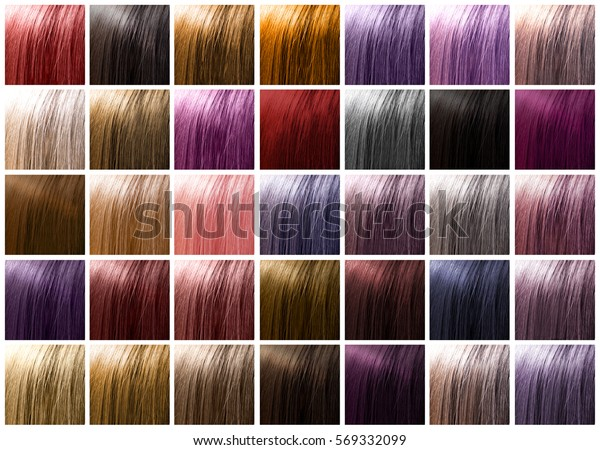 Colorful Hair Palette Background Hairstyles Care Stock Photo ...