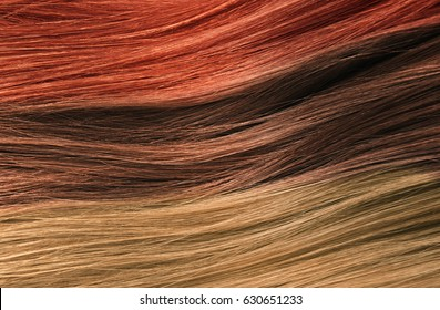 Colorful Hair Texture,Hair Care Concept