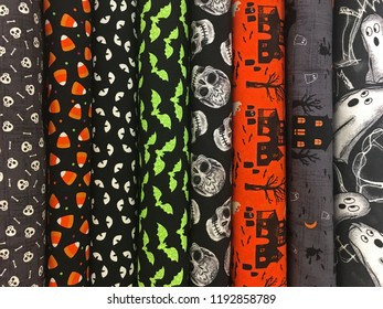Colorful Halloween Patterned Fabrics