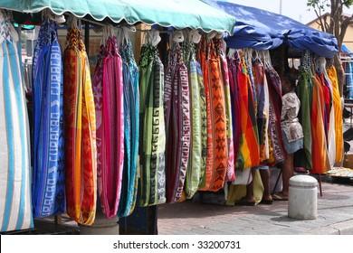 Colorful hammocks, Caribbean  market stall