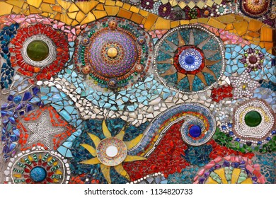 colorful hand craft mosaic
