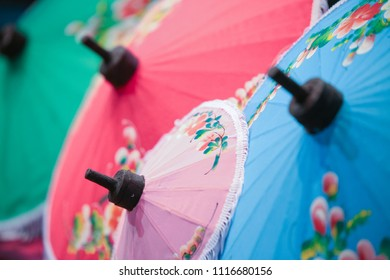 colorful hand painted umbrella.