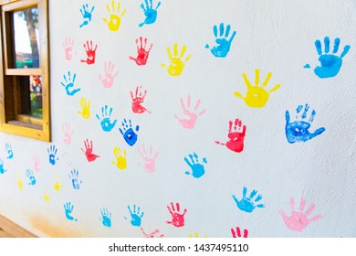 Handprint Background Images Stock Photos Vectors