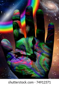 Colorful hand of time
